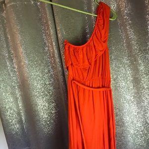 3 FOR $25 DEAL. a.n.a. one shoulder orange dress